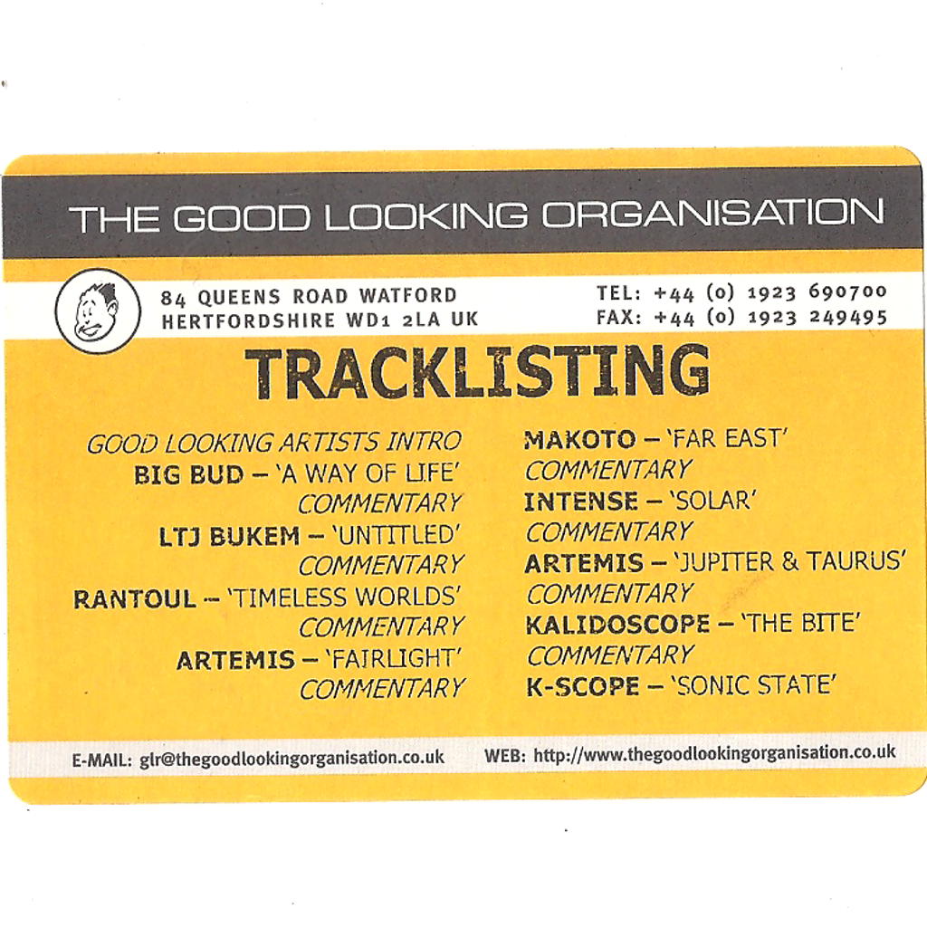 CreativeRepublic good looking records 1999 sampler cd audio commentary and tracks