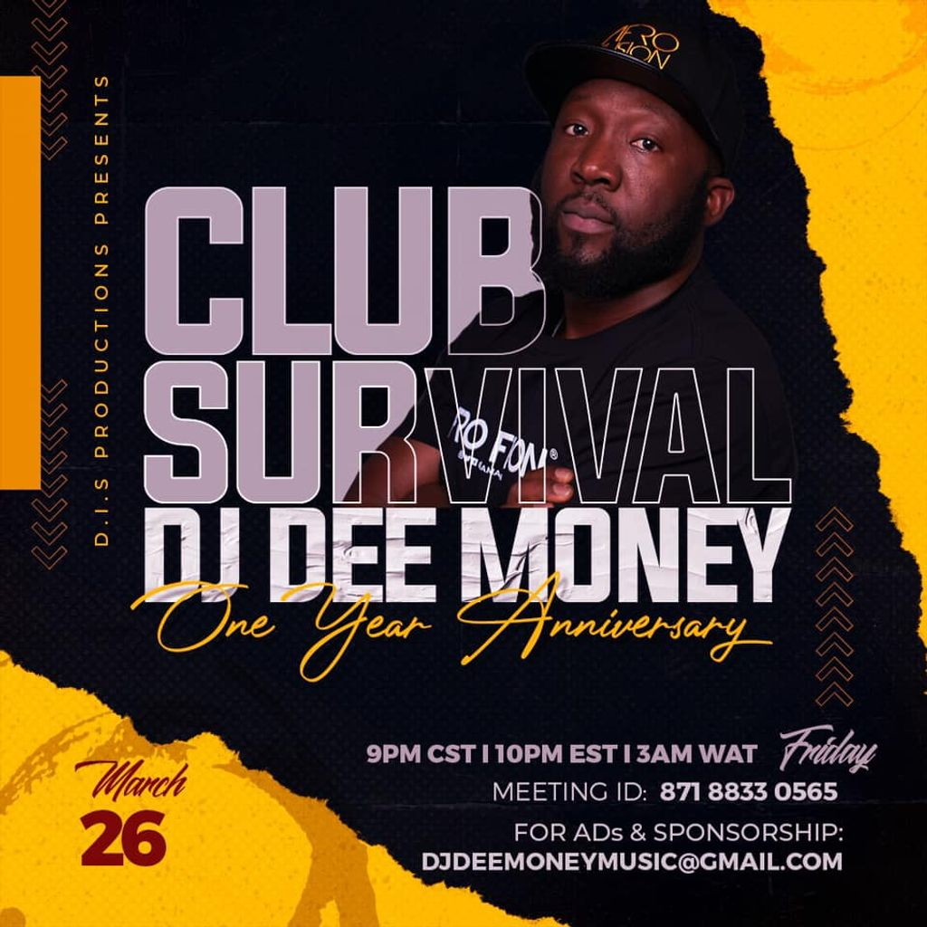 DjDeeMoney club survival march zoom party multi genres