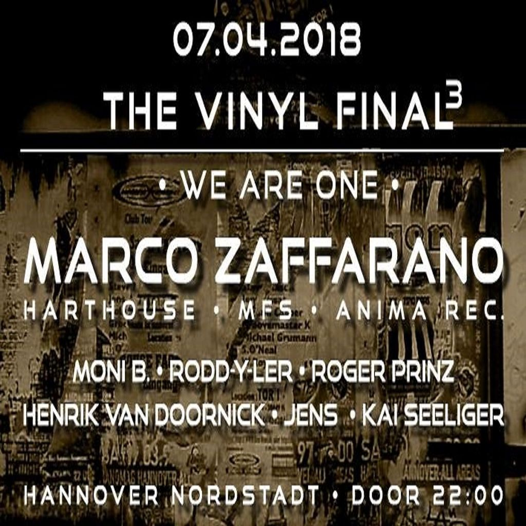 LDJM marco zaffarano at the final vinyl part iii we are one hannover germany 7 april 2018