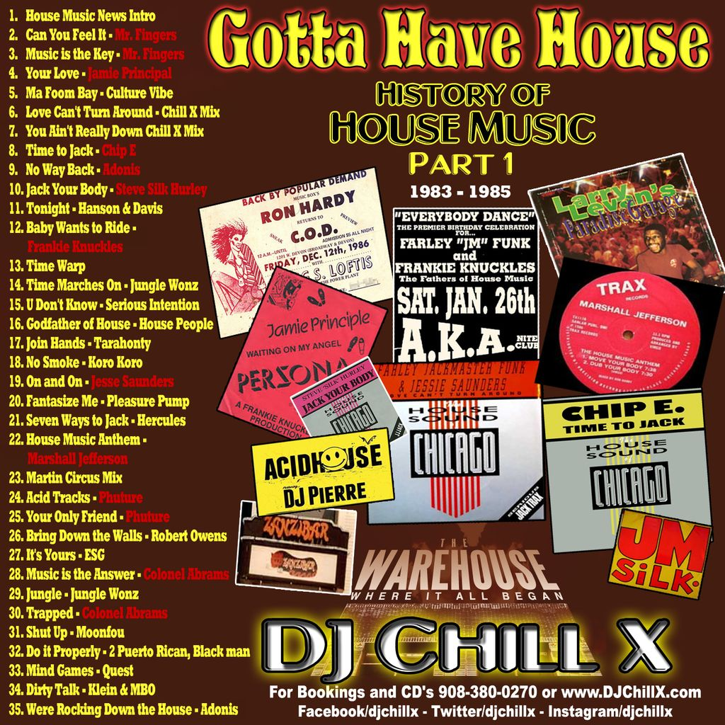 djchillx best of classic house music 1985 1989 history of house music 1 by dj chill